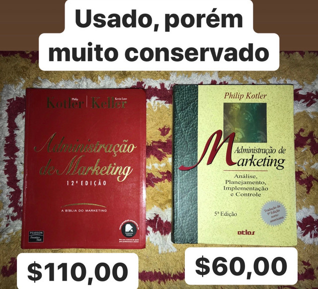 Livro kotler para Administração