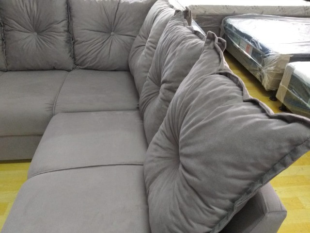 Sofa De Canto Animalle , Suede, 1,80x1,80m Frete Gratis** - Foto 2
