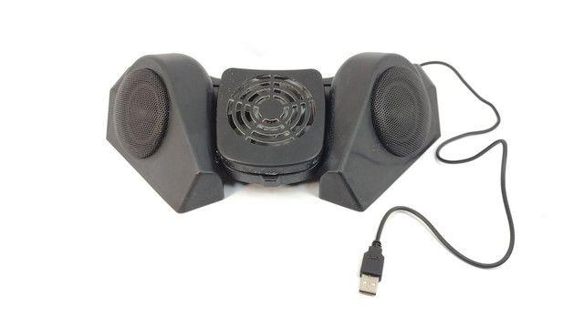 Base para notebook Hub USB, Caixas de som e cooler