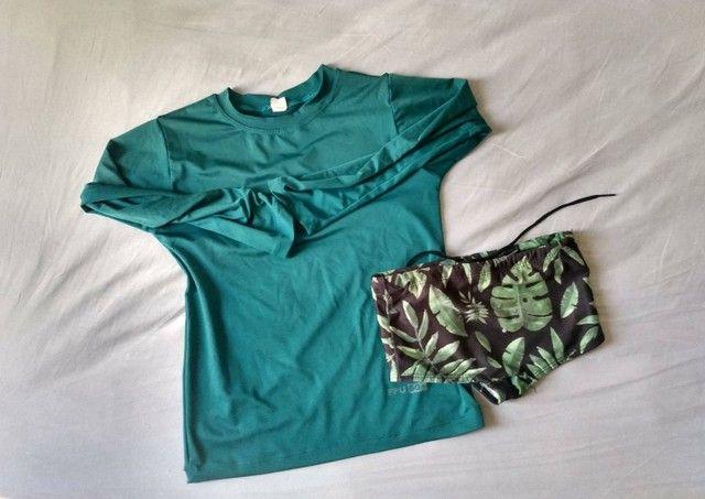 Lote roupas menino kids 3 e 4 anos bermudas camisetas moda praia verão - Foto 6