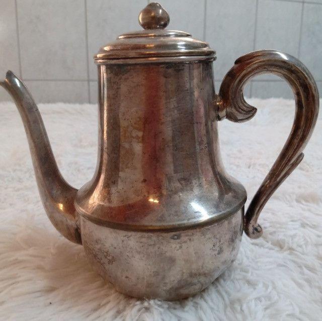 Bule banhado a prata antigo 27cm - Relíquia - Colecionador - R$80,00