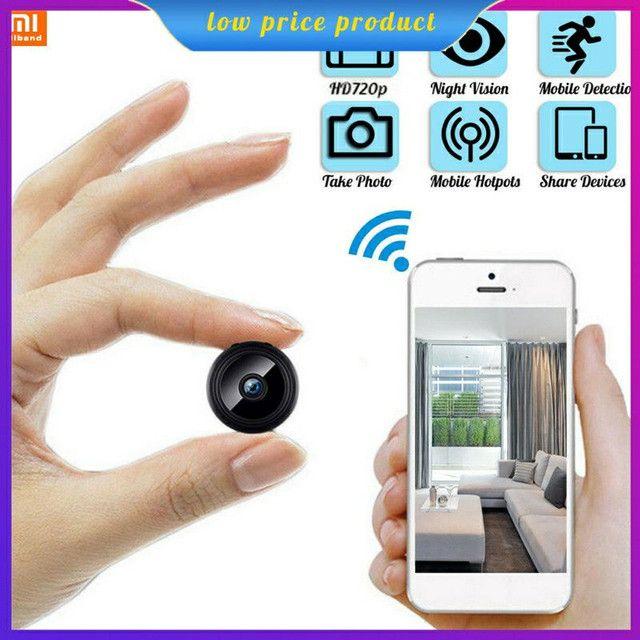 Mini câmera Wifi monitorada por celular espiã