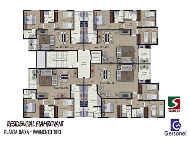 Apartamento à venda com 03 dormitórios em Nucleo agricola alpha, Franca cod:4604 - Foto 4