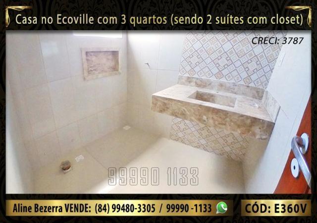 Casa no Ecoville com 3 quartos sendo 2 suítes com closet, e área gourmet - Foto 8
