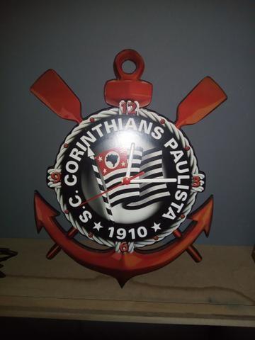 Relógio de parede Corinthians- mdf 6mm motor contínuo - Foto 3