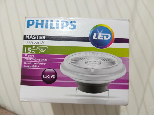 Lâmpada Philips master ledspot ARlll 12 volts 15 watts