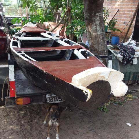 Vendo canoa de madeira - Foto 3