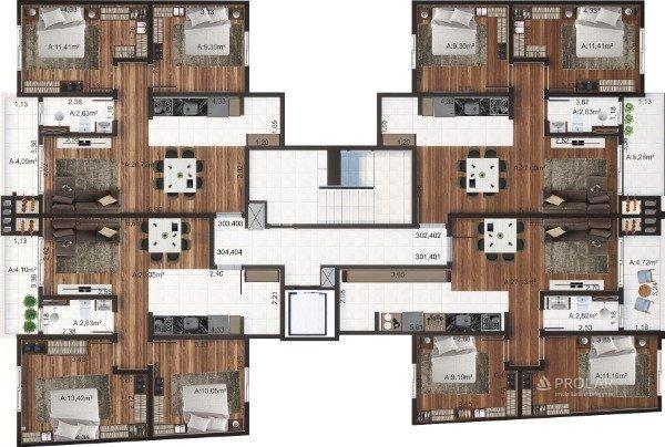 Apartamento à venda com 3 dormitórios em Colina sorriso, Caxias do sul cod:11348 - Foto 5