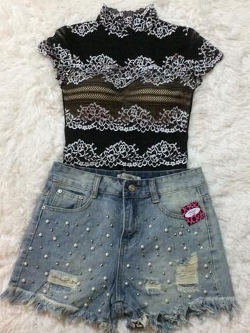 Body e Shorts Jeans - Foto 2
