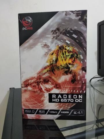 Placa de vídeo Radeon Hd 6570 Oc 4gb Ddr3 (seminova) - Foto 3