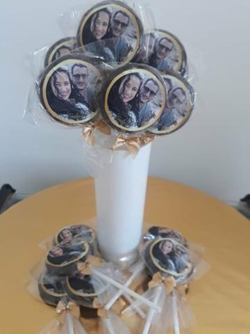 Pirulitos de chocolate R$ 0,90 com adesivo personalizado ENTREGA GRÁTIS - Foto 4