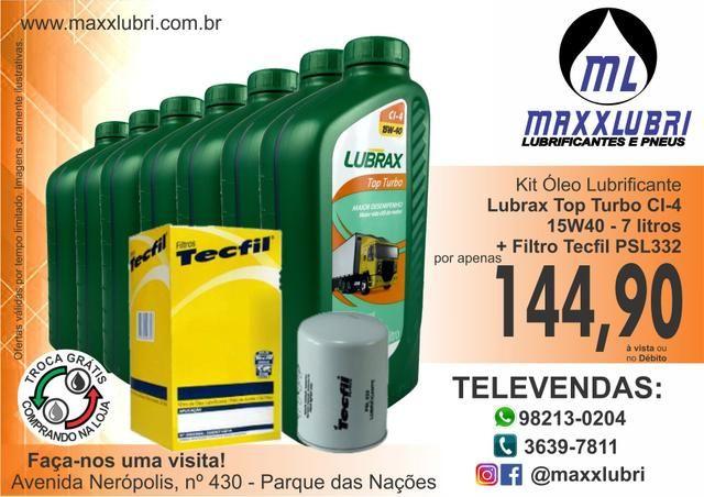 Kit Óleo Lubrax CI-4 15w40 Top Turbo + Filtro Tecfil PSL332