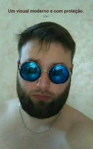 Óculos Redondo Espelhado com Proteção Lateral - Beleza e saúde ... 412be3fde5