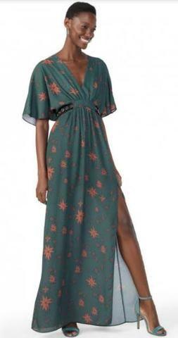 5269e62ec6 Vestido Amaro Longo Verde - Roupas e calçados - Parque Jandaia ...