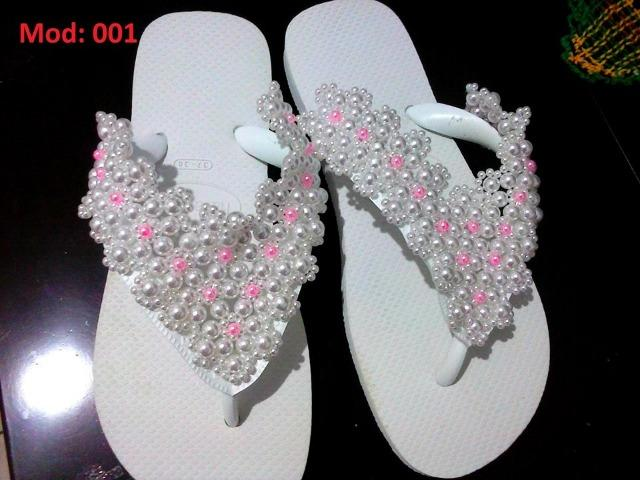 539a330ad Chinelo Havaianas Bordado Com Pérolas Abs - Roupas e calçados - Vila ...