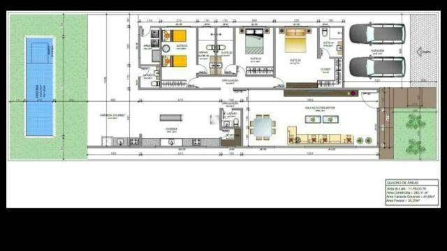 Casa nova 3quartos 3suites, sauna, piscina churrasqueira rua 12 Vicente Pires condomínio - Foto 6