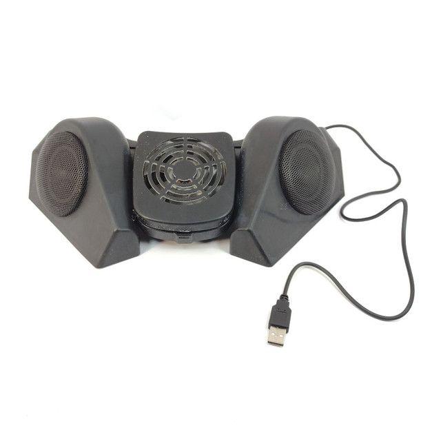 Base para notebook Hub USB, Caixas de som e cooler - Foto 2