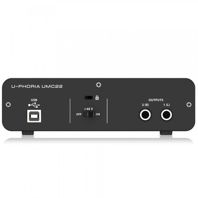 Behringer Interface de Áudio - Totalmente Nova (UMC22) - Foto 4