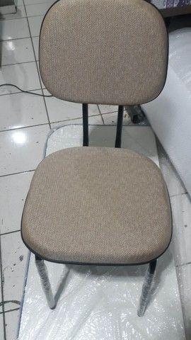 Cadeira fixa palito para escritório, cursos, igrejas sala de espera  - Foto 2