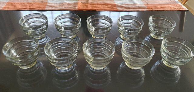 Taça Pote Antigo De Sobremesa Vidro Transparente 10 unidades