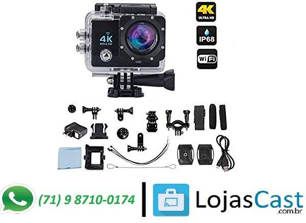 Filmadora Esportiva Com Display LCD, Compacta e Leve + Case a Prova dagua