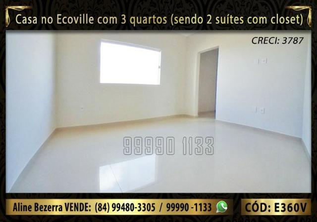 Casa no Ecoville com 3 quartos sendo 2 suítes com closet, e área gourmet - Foto 9