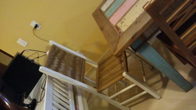 Jg mesa 6 cadeiras peroba rosa com pátina usado - Foto 5