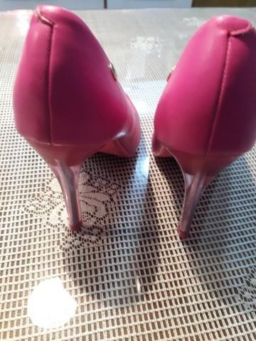 Sapato pink salto cristal - Foto 5