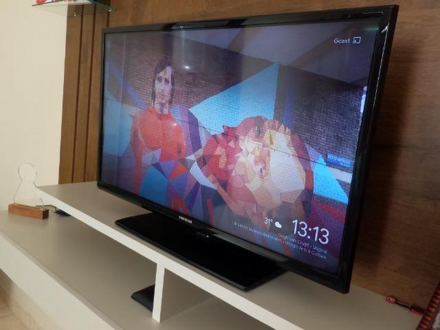 Tv Samsung 32 polegadas + crhomecast 2 Original - Foto 5