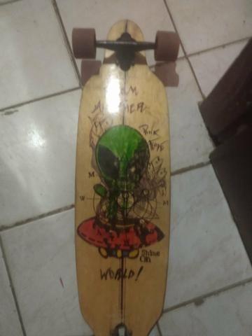 Skate longboard montado pra vender logo