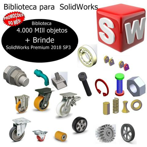 Biblioteca SolidWorks 2018 mas de 4000 Mill Itens /Industrial