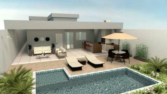 Casa nova 3quartos 3suites, sauna, piscina churrasqueira rua 12 Vicente Pires condomínio - Foto 3