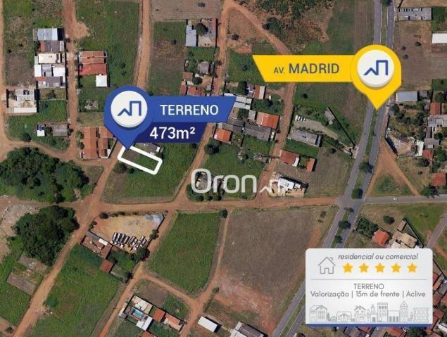 Terreno à venda, 473 m² por R$ 250.000,00 - Setor Faiçalville - Goiânia/GO - Foto 3