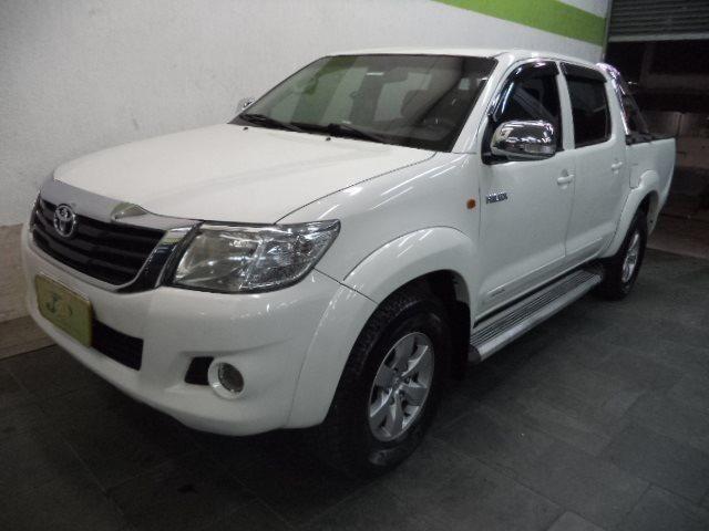 Toyota Hilux CD 2.7 16V Flex/GNV Automatico Completo Couro 2013 Branca - Foto 2