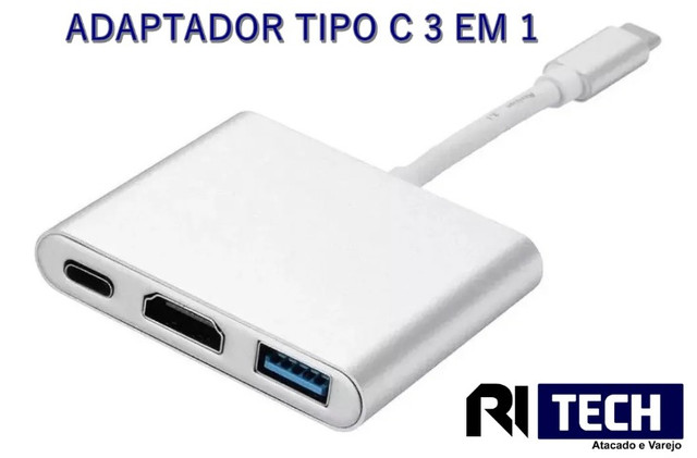Adaptador Tipo C 3em1