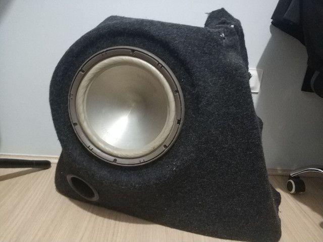 Caixa de som embutida p/ Gol G5 com alto falante Bravox