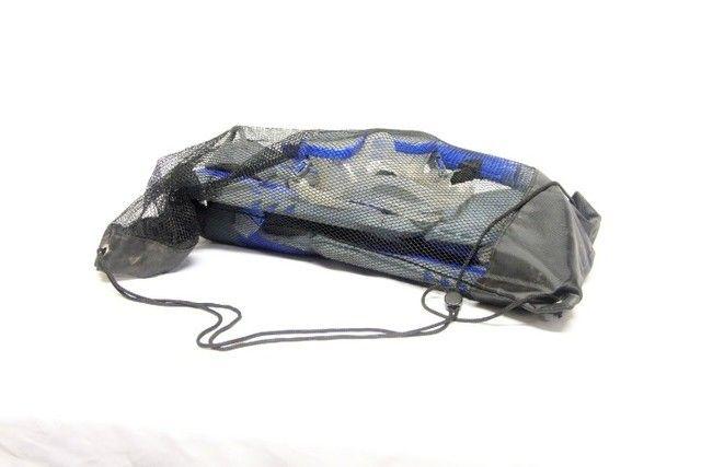 Kit pé de pato nadadeira máscara snorkel mergulho maui - Foto 4
