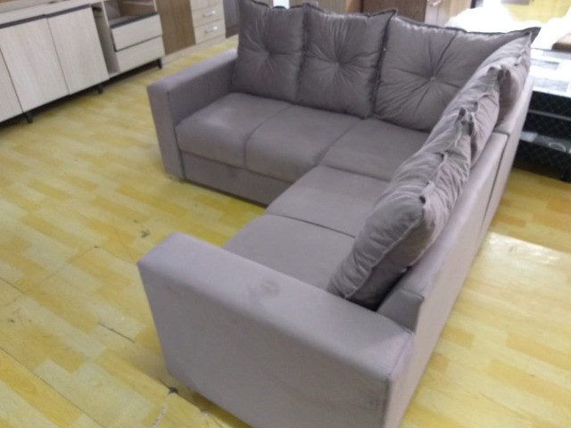 Sofa De Canto Animalle , Suede, 1,80x1,80m Frete Gratis** - Foto 5