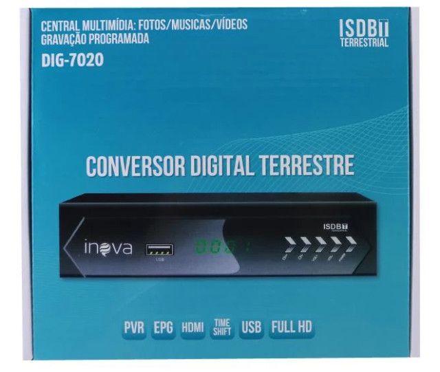 Conversor de TV Digital Full HD Hdmi Gravação Central Multimidia - 8404
