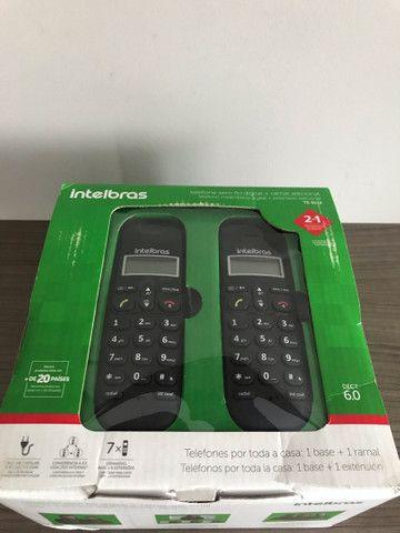 Telefone sem fio digital com ramal adicional  - Foto 4