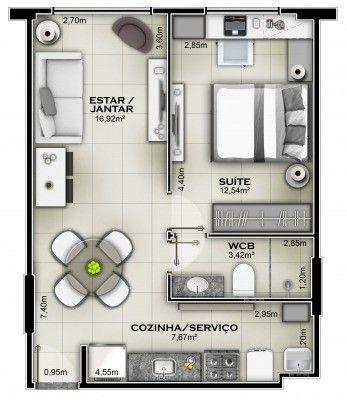 Apartamento 1/4 Novo na Jatiúca - Foto 3
