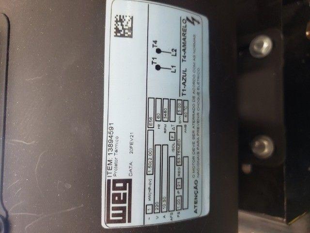 compressor de ar 10 pes 100L 2HP 140psi  - Foto 3