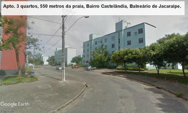 Apartamento 03 quartos, 3 º andar, sol da manha, 1.000 metros da praia, Castelândia - Foto 17