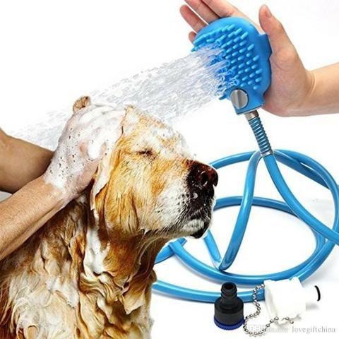 Promoção Mangueira para banho pets com luva Massageadora Nova Entrego