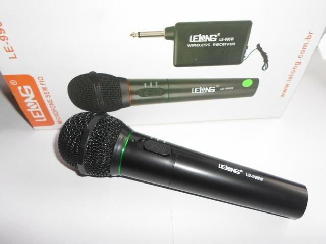 Promoção Microfone sem fio LELONG,Novo, Entrego