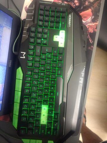 Teclado Gamer Semi-mecânico com led