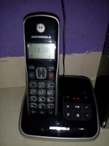 Telefone s/fio Motorola - secr. eletrônica, viva voz - Foto 2