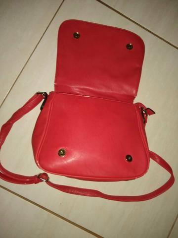 Bolsa média vermelho - Foto 3