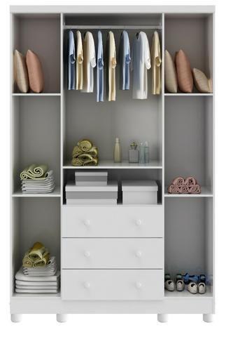Roupeiro Infantil 4 portas 3 gavetas - Bolinha *NOVO* ShopMix Móveis - Foto 3