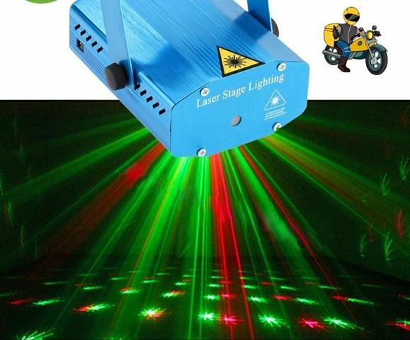 Mini projetor holográfico RGB iluminação para festas - Foto 2